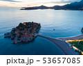 aerial view of Sveti Stefan island in Budva, Montenegro 53657085