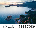 aerial view of Sveti Stefan island in Budva, Montenegro 53657089