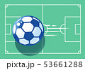 サッカーコートとボール 53661288