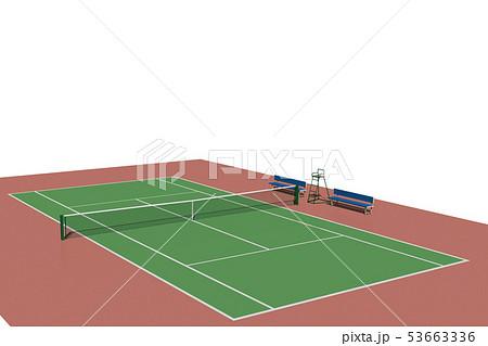 テニスコート(ハードコート) 53663336