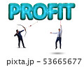 Profit concept with businessman on white 53665677