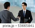握手 ビジネスマン ビジネス 商談 契約 53665841