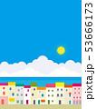 街並み 海 リゾートのイラスト 53666173