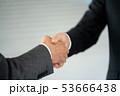 握手 ビジネスマン ビジネス ボディパーツ 53666438