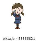 女の子 高校生 悲しいのイラスト 53666821
