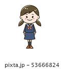 女の子 中学生 高校生のイラスト 53666824