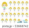 子供 女の子 金髪のイラスト 53668742