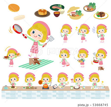 blond hair girl_cooking 53668745