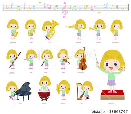 blond hair girl_classic music 53668747