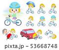 子供 女の子 自転車のイラスト 53668748