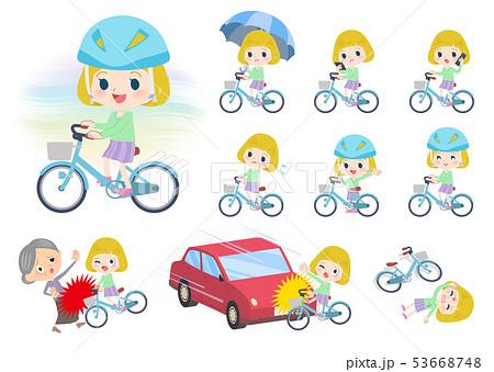 blond hair girl_city cycle 53668748