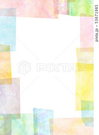 背景素材 水彩テクスチャー 53671985