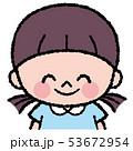 人物 女の子 子供のイラスト 53672954