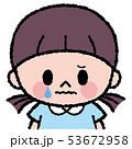 女の子 子供 泣くのイラスト 53672958