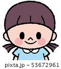 人物 女の子 子供のイラスト 53672961