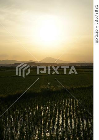 筑波山と田園風景 53673981