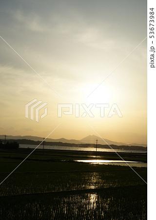 筑波山と田園風景 53673984