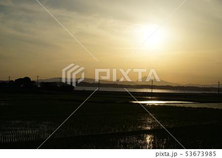 筑波山と田園風景 53673985