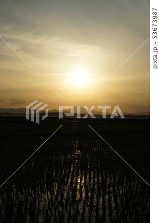 筑波山と田園風景 53673987
