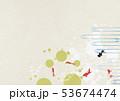 水玉 金魚 夏のイラスト 53674474