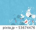 金魚 水玉 夏のイラスト 53674476