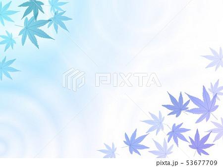 水紋グラデーションと青の紅葉 53677709