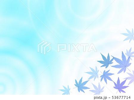水紋グラデーションと青の紅葉 53677714