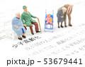人形 ミニチュア 子供の写真 53679441