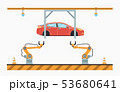 Car production line. Auto assembly conveyor. 53680641
