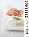 Rice noodles with fried tuna 53683609