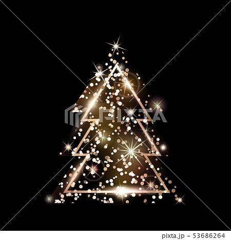 A geometric Christmas tree. Rose Gold Glitter. 53686264
