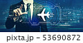 航空機 飛行機 アイコンの写真 53690872