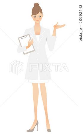 白衣の女性(左手) 53692442