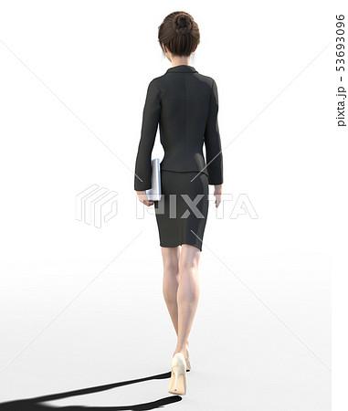 ビジネススーツを着た若い女性 perming3DCGイラスト素材 53693096