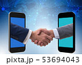 Concept of communication with businessmen handshaking 53694043