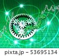 日本地図と歯車と株式市場 53695134