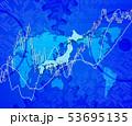日本地図と歯車と株式市場 53695135