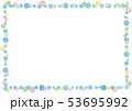 フレーム 枠 水玉のイラスト 53695992