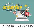 Digital marketing Startup business concept 53697349
