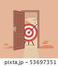 Big target behind opened door 53697351