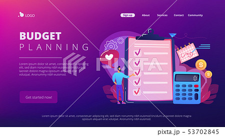 Budget planning concept landing page. 53702845