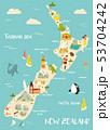 ニュージーランド ニュージーランド ニュージランドのイラスト 53704242