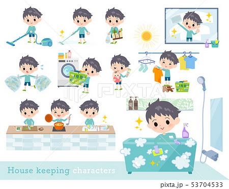 blue clothing boy_housekeeping 53704533