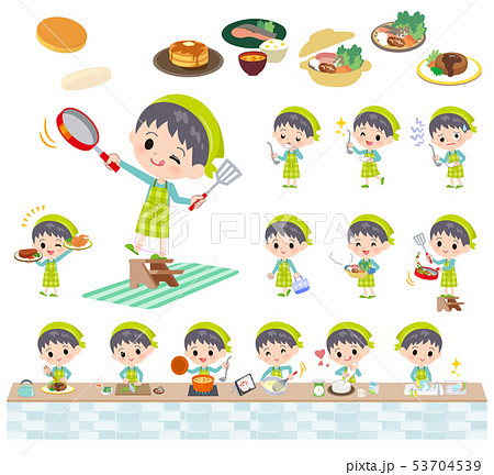 blue clothing boy_cooking 53704539