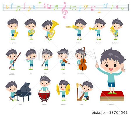 blue clothing boy_classic music 53704541