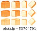 パン 食パン スライスのイラスト 53704791