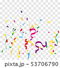 Colorful bright confetti 53706790