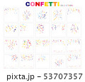 Colorful confetti collection. 53707357