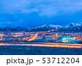 トルコ エルズルム 丘からの夜景 53712204
