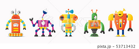 Set of cute vector robot or monster characters for 53713432